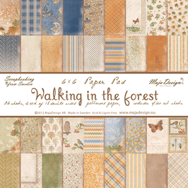 Maja Design-Paper Pad Walking in the forest 6x6""