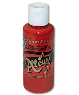 Stamperia Allegro Paint-Cardinal Red