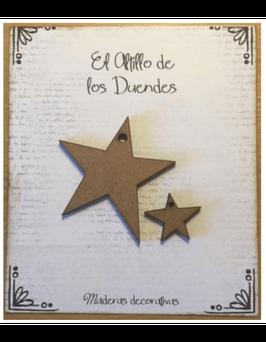 El Altillo de los duendes-Holz Verzierung/Estrellas