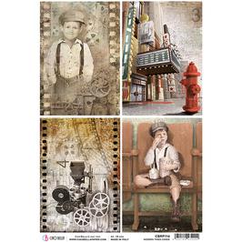 Ciao Bella Reispapier-Modern Times CBRP114