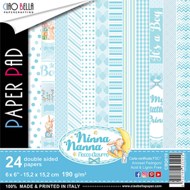 "Scrapbooking Papier Ciao Bella-Ninna Nanna Boy 6x6"""
