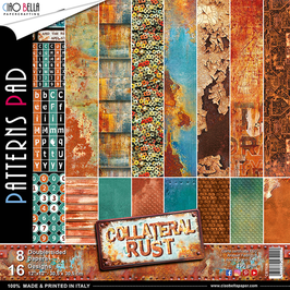 Scrapbooking Papier Ciao Bella-Collateral Rust (2) 12x12""