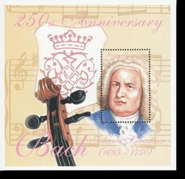 Block von Sierra Leone zum 250. Todestag von Johann Sebastian Bach, 2000