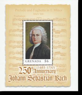 Block von Grenada zum 250. Todestag von Johann Sebastian Bach, 2000