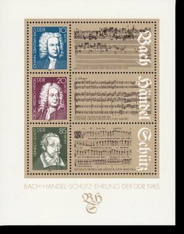 Block der DDR, Bach-Händel-Schütz-Ehrung der DDR, 1985