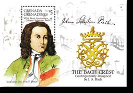 Block von Grenada, Grenadines zum 300. Geburtstag von Johann Sebastian Bach, 1985