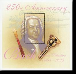 Block von Lesotho zum 250. Todestag von Johann Sebastian Bach, 2000