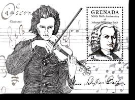 Block von Grenada zum 300. Geburtstag von Johann Sebastian Bach, 1985