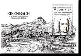 Block von Dominica  zum 300. Geburtstag von Johann Sebastian Bach, 1985