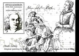 Block von Antigua + Barbuda zum 300. Geburtstag von Johann Sebastian Bach, 1985
