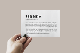 "Postkarte ""BAD MOM"""