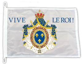 DRAPEAU LOUIS XIV VIVE LE ROI