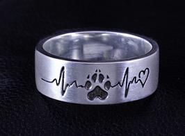Ring mit Pfote & Herzschlag: GMH-900s