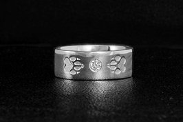 Ring mit Zirkonia & 2Pfoten: GMH-313zs