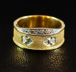 Ring mit Krone & Pfoten: GMH-330gp
