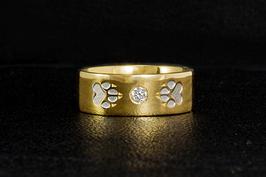 Ring mit Zirkonia & 2Pfoten: GMH-313zg