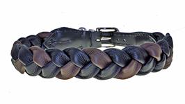 Zopfhalsband : schwarz-braun