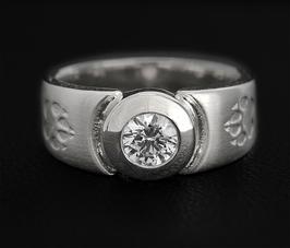 Ring mit Pfoten & Zirkonia: GMH-321s