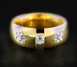 Schwebender Zirkonia im Ring: GMH-245gp