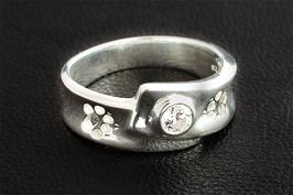 Ring mit 2 Pfoten & Zirkonia: GMH-406s