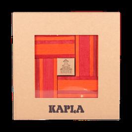 Set mit farbigen Steinen, orange-rot + ein Kunstbuch