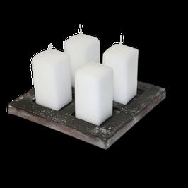 Betonform 4-fach Kerzenständer
