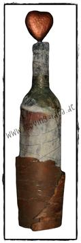 Dekoflasche mit Baumrinde