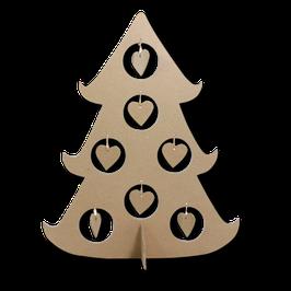 Weihnachtsbaum mit Herzhängern