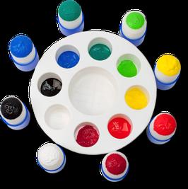 Palette für Kinder mit 8 Stempeln