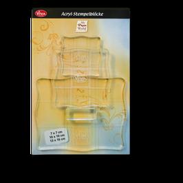 Acryl-Stempelblock 3er Set
