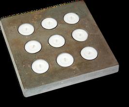 Betonform 9-facher Kerzenständer