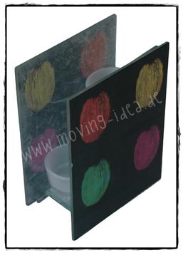 Teelichthalter Malerei Kürbisse