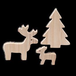 Weihnachts-Set mit Elch