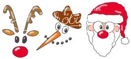 Rudi, Snowman + Santa
