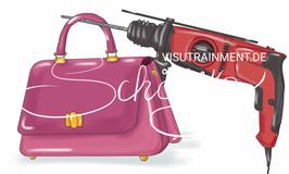 Handtasche + Bohrmaschine