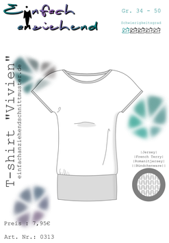"ebook T-shirt ""Vivien"""