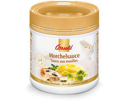 Morchelsauce Edle Sauce mit extra viel feinen Morchelstücken / Sauce aux morilles