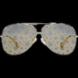 Police Sonnenbrille SPL406E 300L 62 Pilotenform mit Hanfblättern
