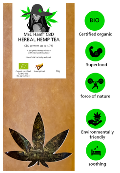 CBD hemp tea 1,7%