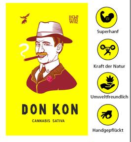 High CBD 3%-5% Hanftee DonKon | Licht Witz Hanfblüten 100% Blumen und Samen 25g