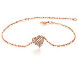 Chicago Crystal Heart Bracelet
