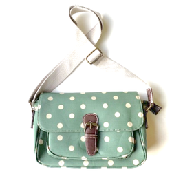 Handtasche Polka-Dot Wachstuch