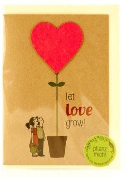 """Grusskarte zum Einpflanzen """"Love"""""""