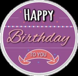 Happy Birthday - To You - Lila