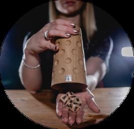 Würfelbecher - Dubbeglas aus Holz von Dubblikat!