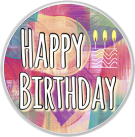 Happy Birthday mit Torte