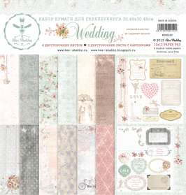 PSB-21  Papel scrapbooking 30x30 cm Wedding