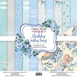 La coleccion Shabby Baby Boy Fábrica Decoru 30,5x30,5 cm