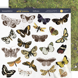 Hoja para recortar mariposas 20x20 cm Herbarium Wild Summer