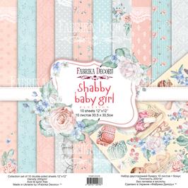 La coleccion Shabby Baby Girl Fábrica Decoru 30,5x30,5 cm